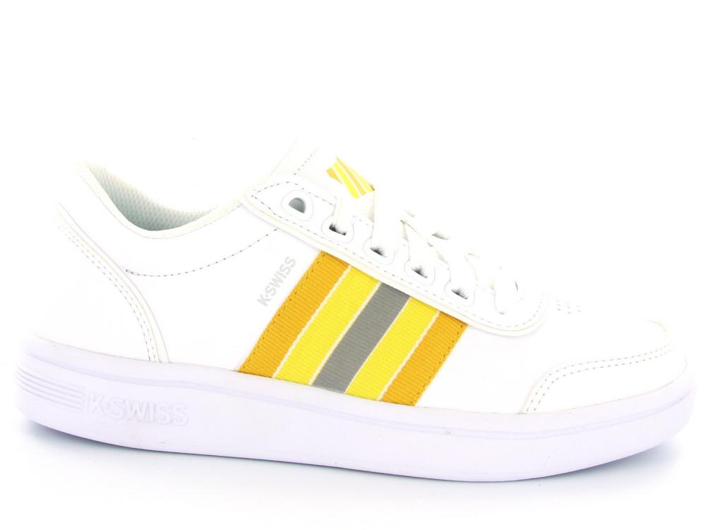 cd6a89ce21b K-Swiss dames sneaker wit multicol - Olthuis Schoenen