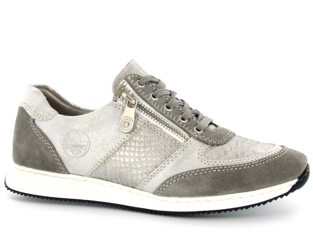 9edf449284e Click to enlarge. HomeShopDamesDames Schoenen Rieker dames sneaker licht  grijs