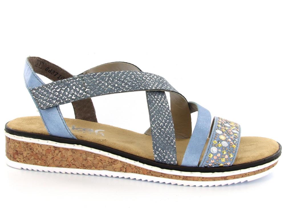 Rieker dames sandaal licht blauw