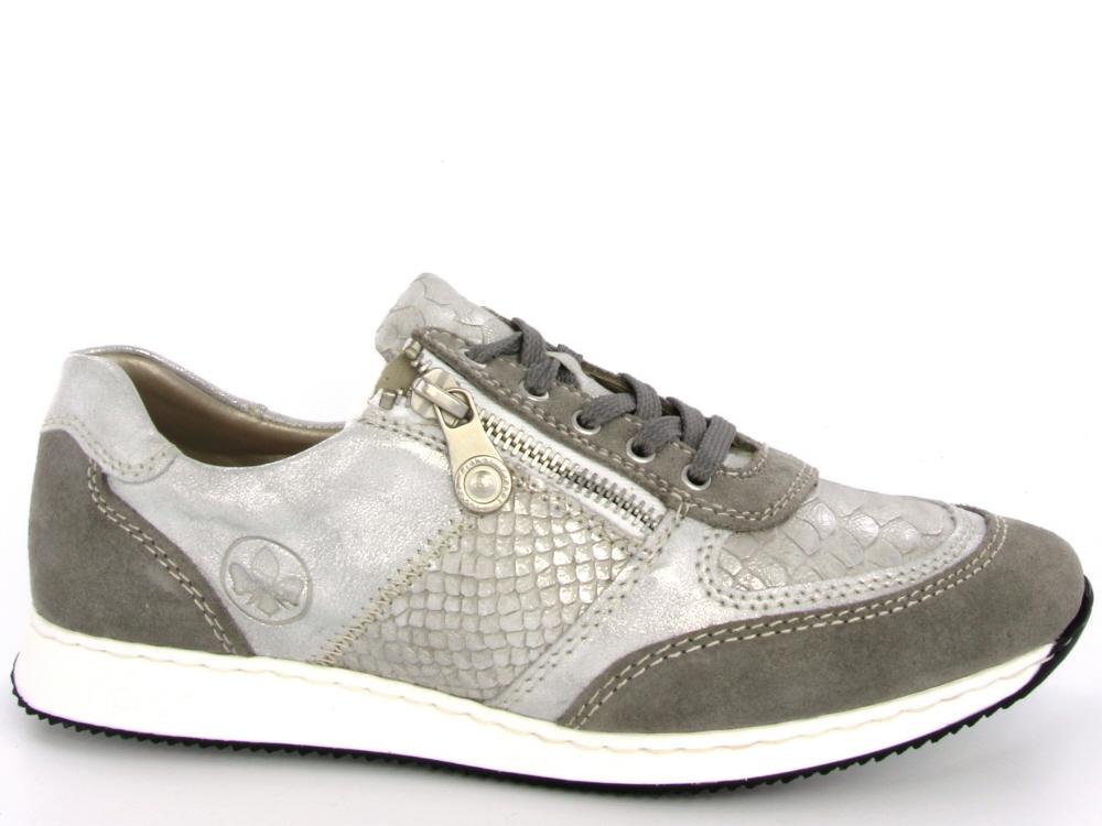 Rieker dames sneaker licht grijs