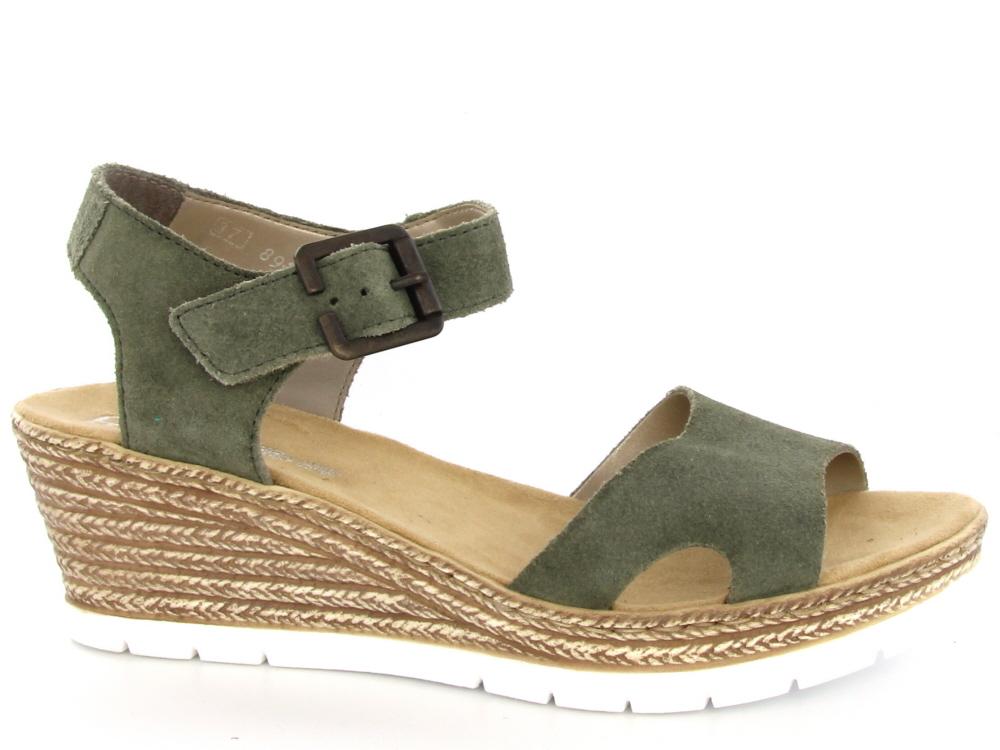 Rieker dames sandaal hoge hak groen